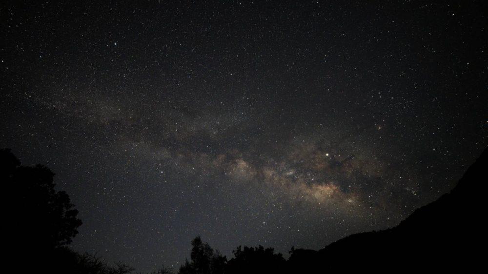 小港海岸から見た星空